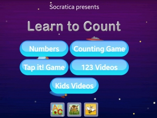 Learn to Count's home screen lets kids choose their game or tap out of the app and get lost browsing other apps for download.