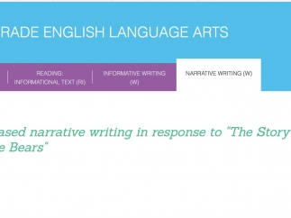 One section covers narrative writing.