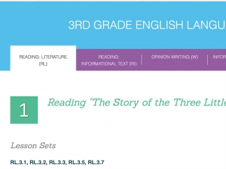 The 3rd Grade ELA topics cover a range of Common Core standards.