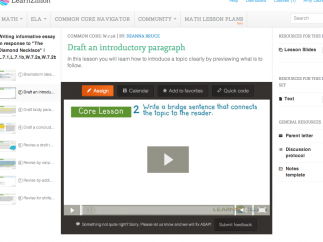 The core lessons are offered as video tutorials.