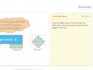 Teaching presentations mix images, videos, and step-by-step instructions with teacher's notes and additional resources.