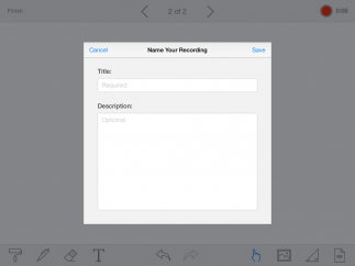 Add audio recordings to presentations.