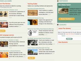 Teachinghistory.org includes lessons on a wide range of U.S. History topics.