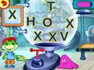 Kids will find all of the letters that match the one in the box.