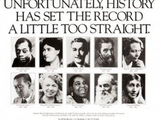 Powerful poster highlights gays in history.