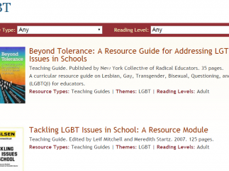 Resources to help schools address LGBTQ issues.