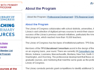 The Teaching with Primary Sources program helps educators use the site's content.