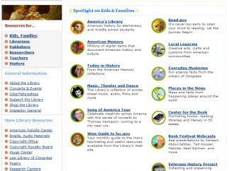 Kids and Families is filled with content that kids can enjoy directly on the site.