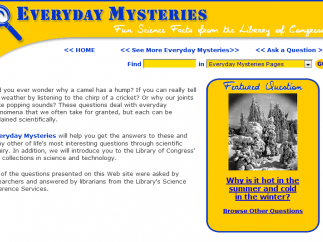 Everyday Mysteries is a fun way for kids to discover the answers to scientific questions.