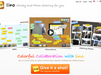 Lino offers a way to organize data using online sticky notes.