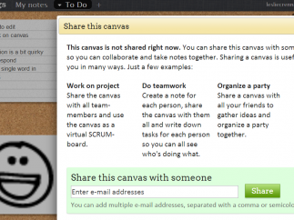 Sharing page offers some great ideas but doesn't simplify the input process.