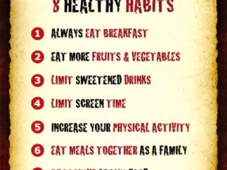 Tweens and teens can learn eight habits for a healthy lifestyle.