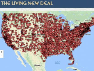Current map showing the huge number of New Deal projects.