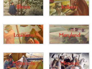 Students can view New Deal projects by state, allowing them to see local impact.