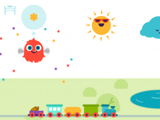 Tap around to interact with the different things in the park, or tap a critter to play a game.