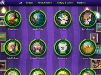 Games can be sorted by skill area or viewed all at once.