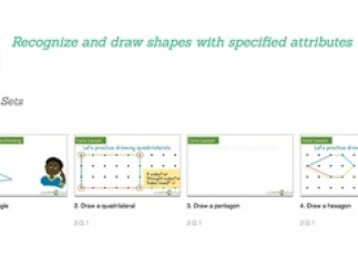 Kids learn shape attributes with excellent narration and graphics.