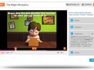 Preptoon will tell students when they are correct or incorrect.