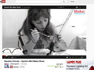 """""""Sylvia's Mini Maker Show,"""" produced on Youtube.com, features a great role model for kids who tinker."""