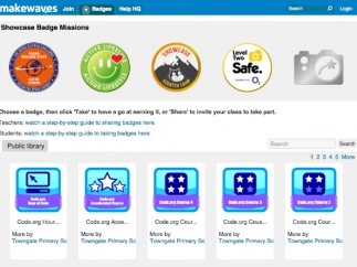 You can work toward a Makewaves badge or design your own.