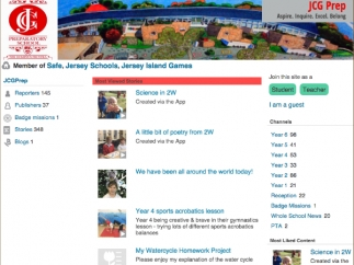Schools can create custom sites and share their activities.