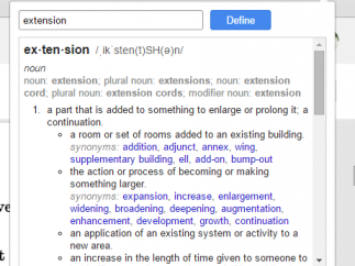 Many definitions are offered, as are links to click based on words.