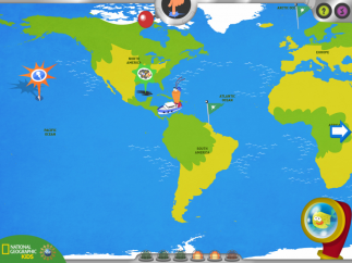 Beautiful map acts as a guide to finding the app's activities.