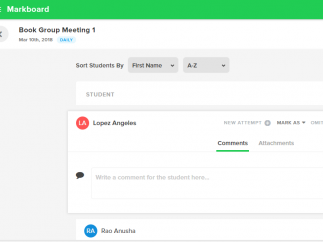 Leave comments or attach documents to student grades.