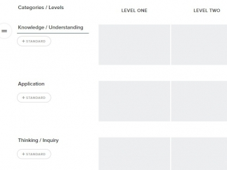Create rubrics for grading in the tool.