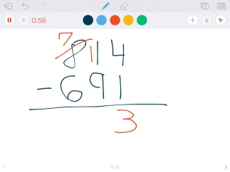 Try using Educreations to assess math understanding.
