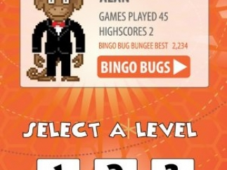 Kids choose a username and silly avatar, then difficulty level.