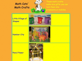 Kids can explore craft suggestions for offline math exploration.