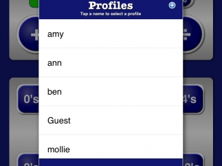Multiple profiles provide the ability to set unique settings and track each student's progress.