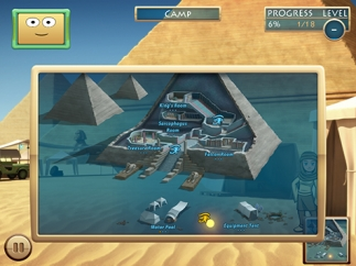 Mini-games are arranged in six areas on a map.