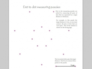 Puzzles like Dot to Dot Measuring make measurement and precision a game.