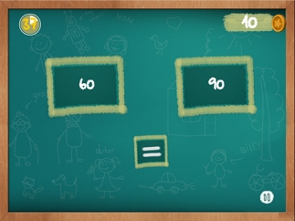 Kids compare numbers in this mini-activity.