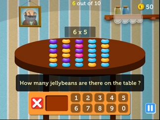 In this activity, kids multiply using jellybeans arranged in arrays.