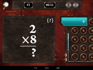 Arithmetic quizzes include multiplication problems.