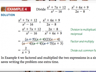 Some videos include written sample problems.