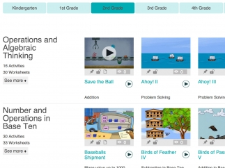 Tag, lock, or view game sets and worksheets in four categories.