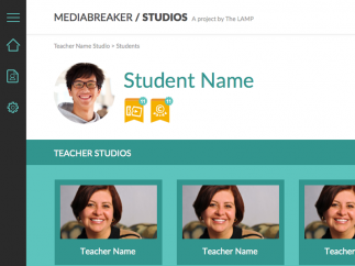 "Teachers collect students' work in their own ""Studios."""