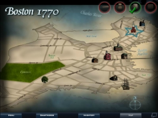The game map shows Boston in 1770.