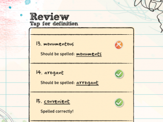 Review answers after each game.