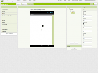 The App Inventor 2 interface is easy to use right in the browser.
