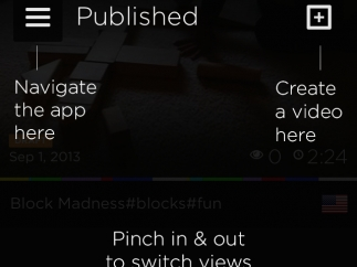 Navigate the app and add new MixBit creations here.