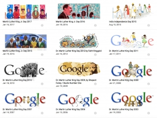 Search doodles by subject.