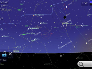 Kids can view constellation maps by pointing the device at the night sky.