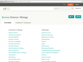 350+ biology concepts are grouped into 9 major categories.