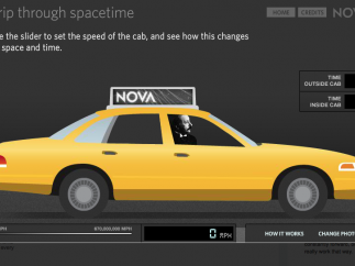 Join Einstein in a taxi during an interactive about relativity.