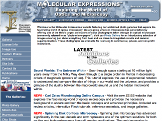 The Molecular Expressions homepage has a plethora of information.